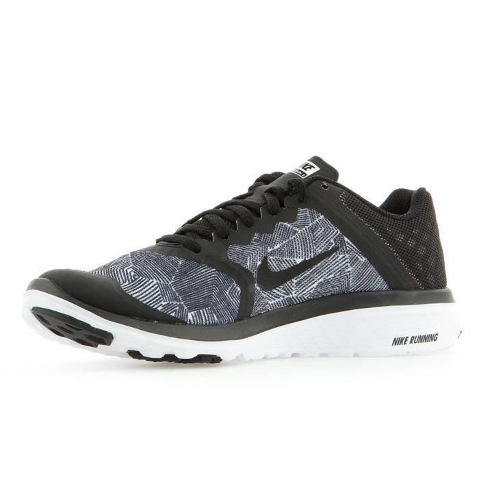 Nike Wmns FS Lite Run 3 Print Noir - Chaussures Baskets basses Femme