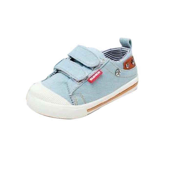 ed53ab86655db BOTTE Garçon Fille Bébé Enfants Toile Chaussures Printemps Automne Bébé  Chaussures Toddler Chaussures Bleu clairHM