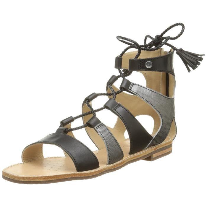 29e4c13ab0a94b Femmes Geox Sozy Noir Noir - Achat / Vente sandale - nu-pieds ...