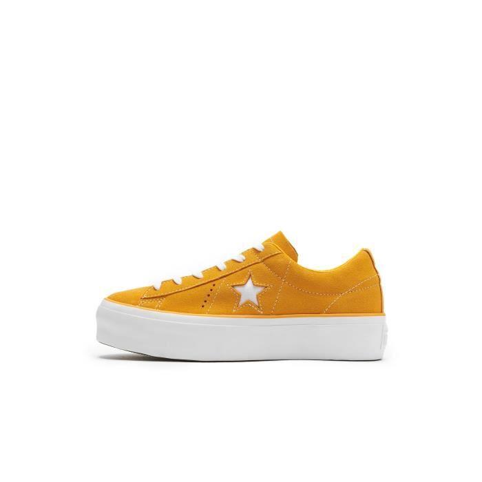 Platform Baskets Chaussures Converse Star One Ox Femme Orange BCpzTqWg