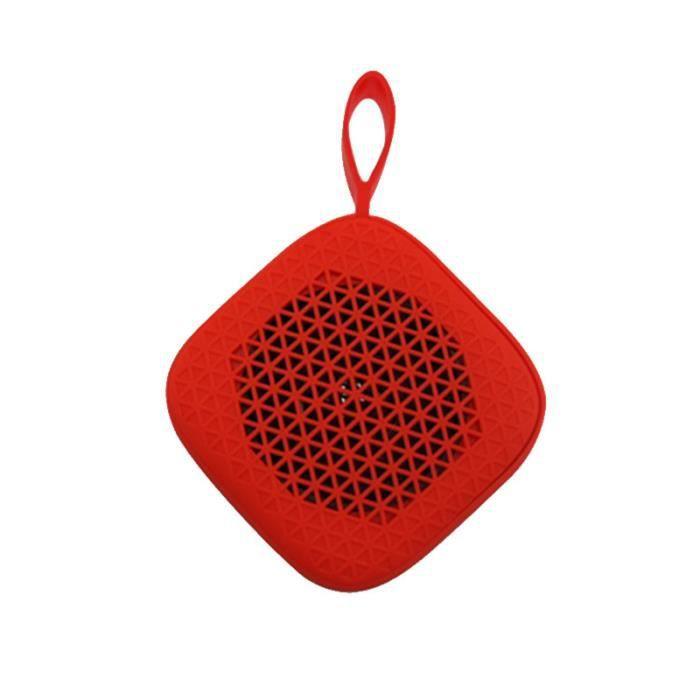 Enceinte Bluetooth Portable - Mini Haut-parleur Extérieur Sans Fil Pour Téléphone Rouge
