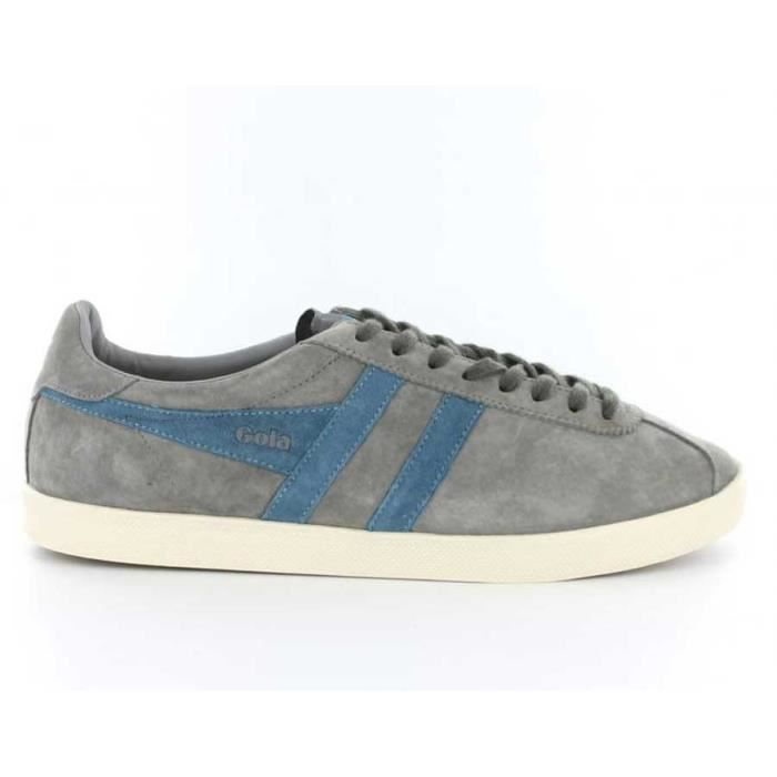 Chaussure Baskets basses Gola Trainer Suede Cool Grey Pro Blue Homme Pointure 43
