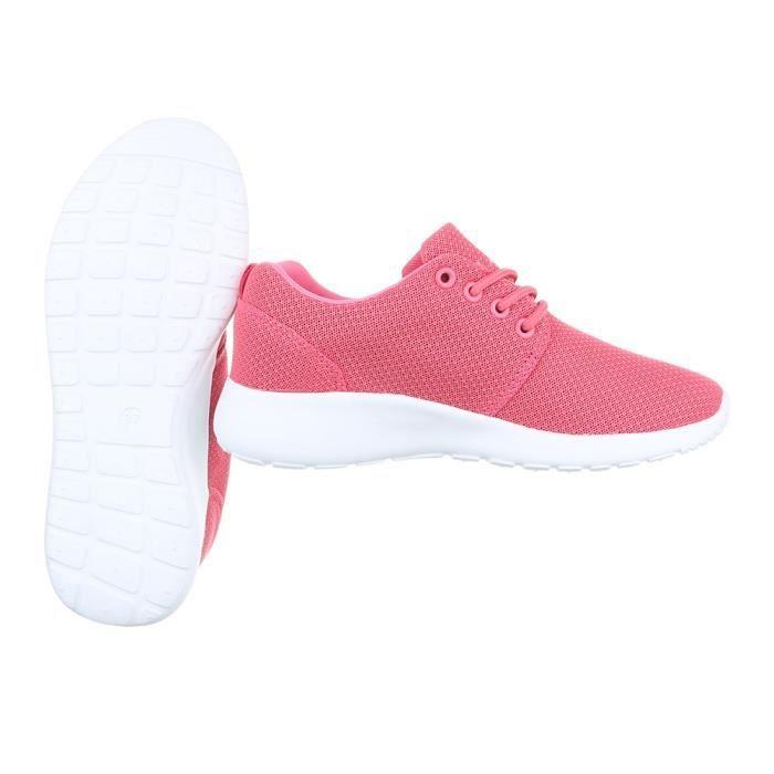 Femme chaussures loisirs chaussures Sneaker Chaussures de sport rose 41