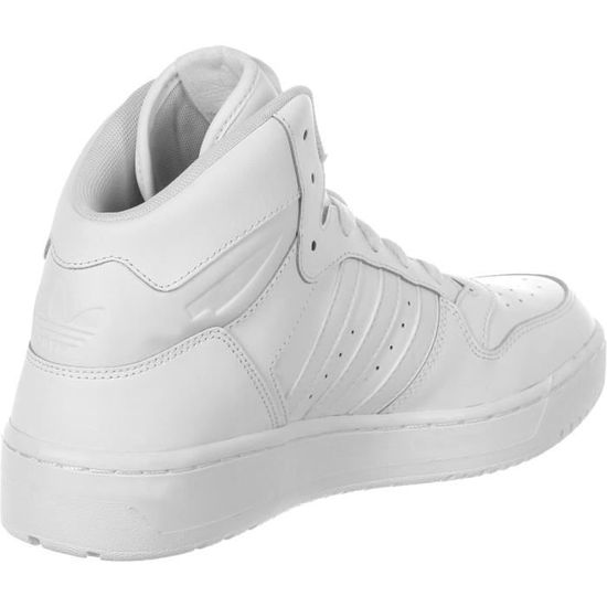 online store eadae 97b48 Adidas Mid Attitude Revive Fashion Leather Sneaker White Shoes I5P26  Taille-39 1-2 Blanc Blanc - Achat   Vente basket - Cdiscount
