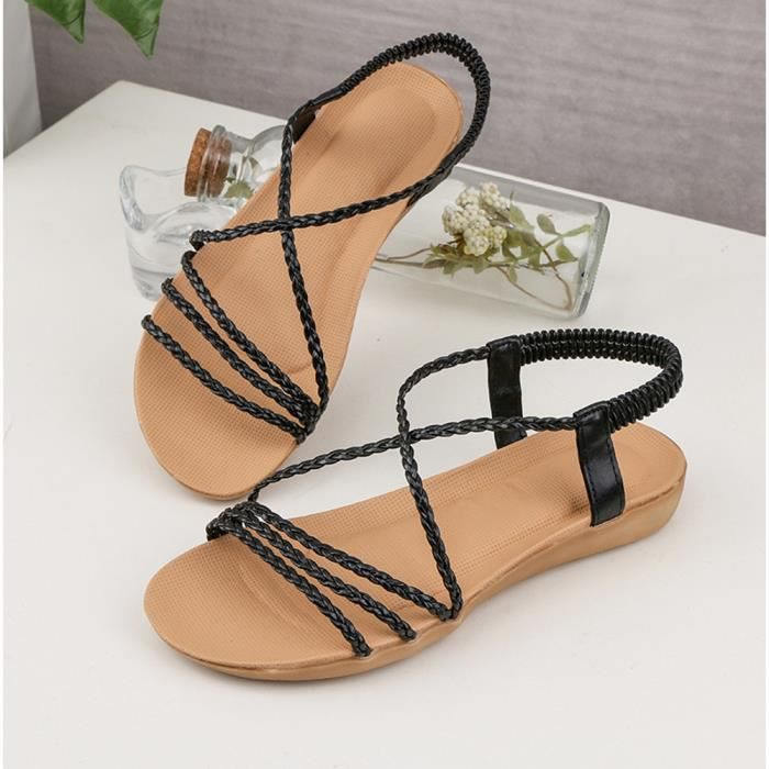 Noir Slipper Outdoor Summer Flip flops Femmes Lix80409623bk Indoor Sandales Bow Chaussures Plage De wHqU4ZApW7