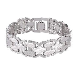 BRACELET - GOURMETTE U7 Chunky Bracelet Gourmette Plaqué en Platine Bij