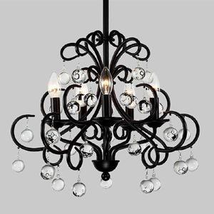 LUSTRE ET SUSPENSION 48CM Noir Lustre Chandelier Rétro lampe à suspensi