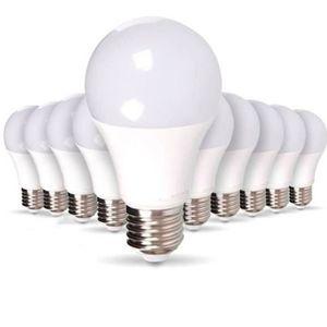 AMPOULE - LED Lot de 10 Ampoules LED E27 9W eq 60W 806m Blanc fr