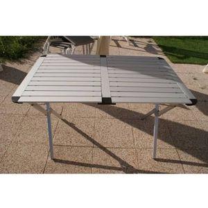 TABLE DE JARDIN  TABLE EN ALU « TEXAS » CAMPART TRAVEL A10-TA0802