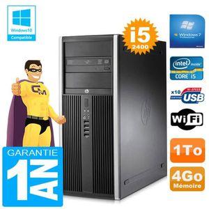 UNITÉ CENTRALE + ÉCRAN PC Tour HP Compaq 8200 Core I5-2400 Ram 4Go Disque