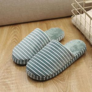 Napoulen®Chaussons d'intérieur rayés Accueil anti-dérapant hiver chaussures chaudes ROUGE-SJF71013734RD 8DxEa51