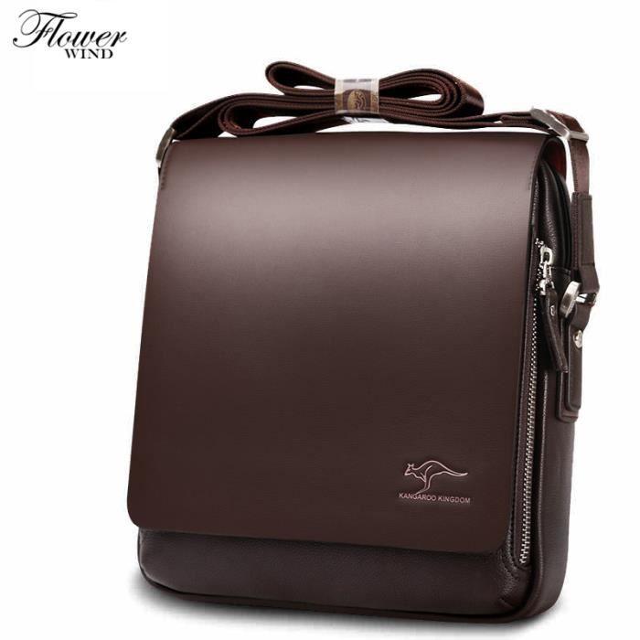 sac de voyageMode kangourou marque PU Crossbody homme épaule Sacs de qualité pour hommes Porte-documents-852