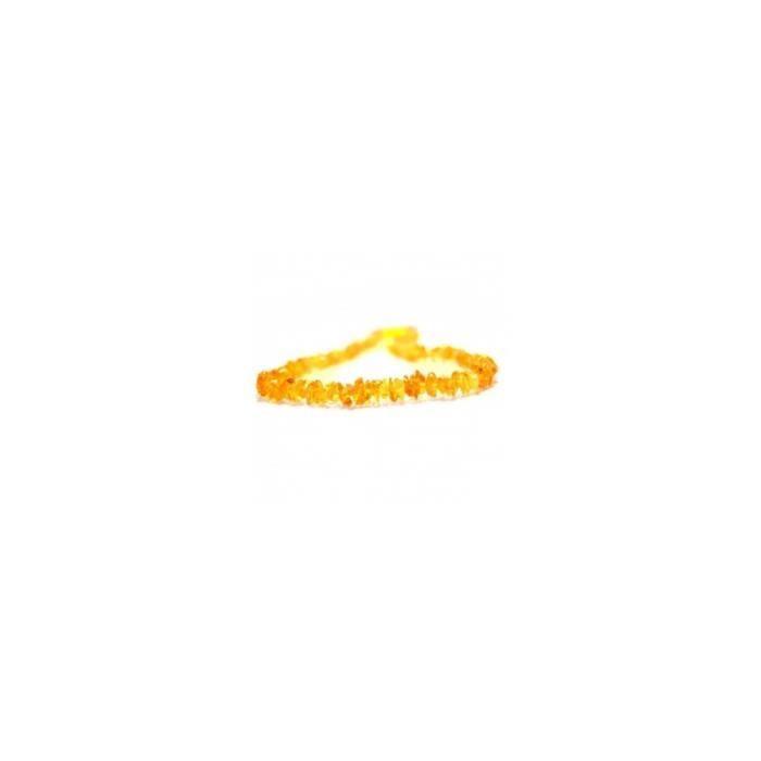 Colliers en ambre modèle pépites - pépites champagne