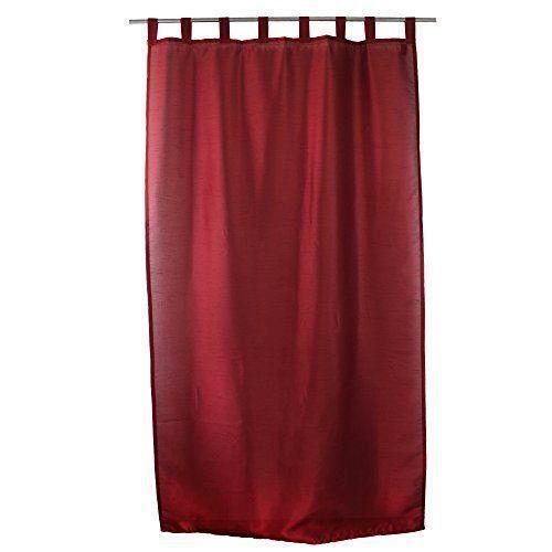g zze rideau dakar 140x255 cm aspect soie uni rouge pr t poser 8 passants bande d 39 ourlet. Black Bedroom Furniture Sets. Home Design Ideas