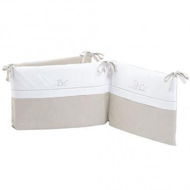 tour de lit beige bébé Tour de lit ABC taupe et blanc.   Achat / Vente tour de lit bébé  tour de lit beige bébé