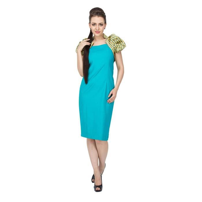 Womens Fashion India Slim Fit Dress YV3UT Taille-34