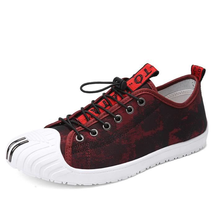 Plate Chaussures Boys De Rouge Baskets Chaussure 39 Mode Toile Homme Sport Sneakers OwX8PNn0k
