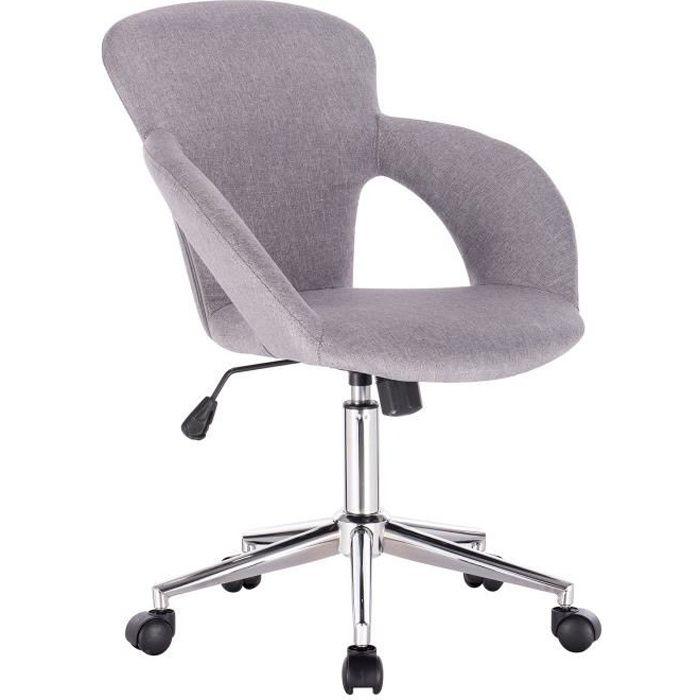 Woltu Ergonomique De Réglable fauteuil gris design Hauteur Clair Direction Lin Chaise Bureau En Kcu13JTlF