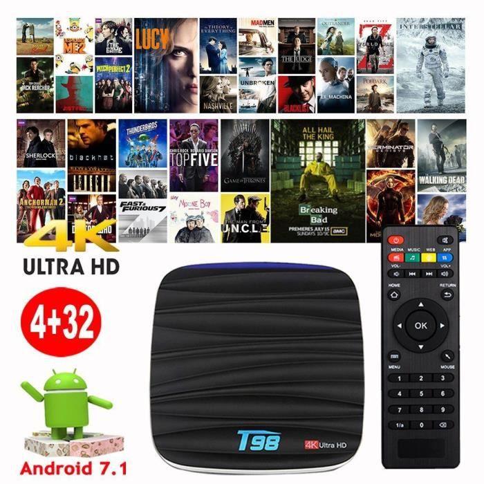 PACK ACCESSOIRES 2018 T98 4+32GB Android 7.1 Quad Core RK3328 Smart