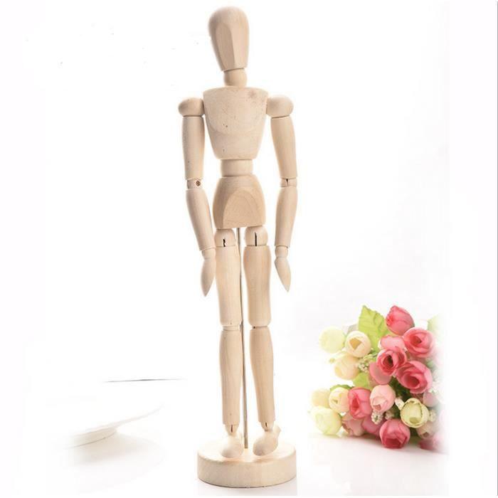 Loisirs Créatifs Mannequin Bois Homme Hauteur 20cm Matériel