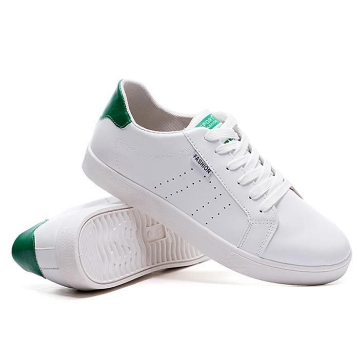 Chaussures De Sport Pour Hommes En Cuir Basket Populaire BBDG-XZ128Vert40 l5Pu8t