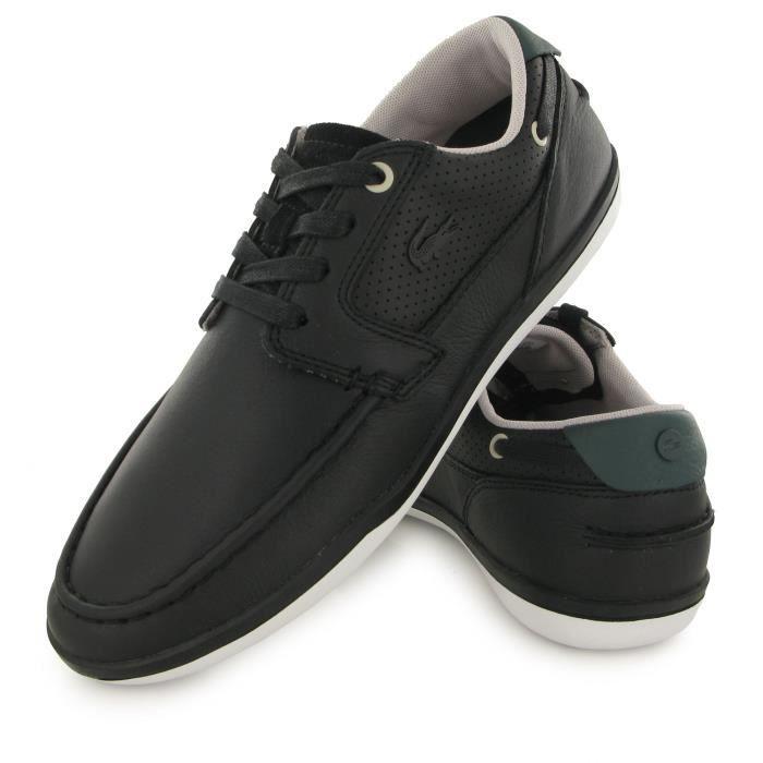 Lacoste Deck Minimal 317 noir, chaussures de ville / bateaux homme