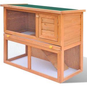 CLAPIER Cage Clapier Enclos lapin Extérieur en bois 1 port