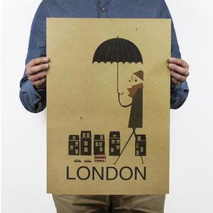 AFFICHE - POSTER Affiche en Papier Kraft Poster - London Londres so