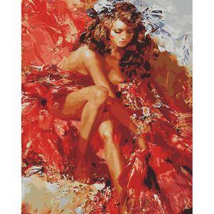 Fille De Danse Flamenco Bricolage Peinture Par Chiffres Art Mural