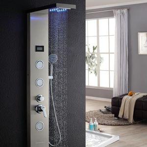 COLONNE DE DOUCHE Colonne de douche LED à Couleurs Variables en Acie