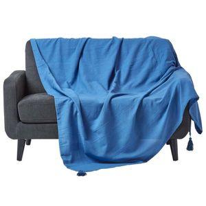 jete de canape bleu achat vente jete de canape bleu. Black Bedroom Furniture Sets. Home Design Ideas