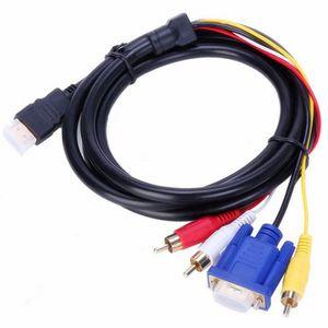 CÂBLE AUDIO VIDÉO Kingwing® 1.8 m HDMI vers 3 RCA + câble VGA