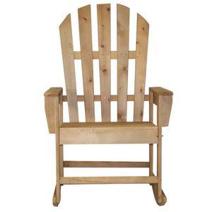 FAUTEUIL Rocking-chair bois Dakota couleur bois fumé - H 11