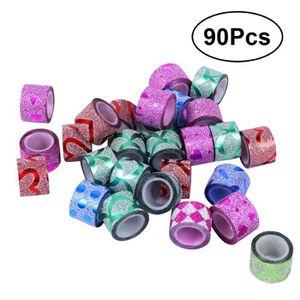 MASQUAGE - MASKING TAPE 90pcs Cartoon Mini Shimmer Glitter Masking Tape dé