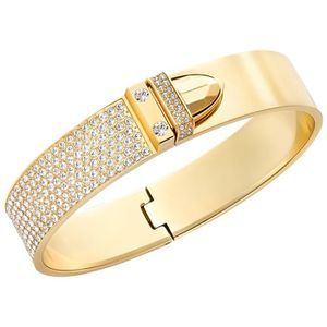 BRACELET - GOURMETTE Bracelet jonc Swarovski Distinct doré M