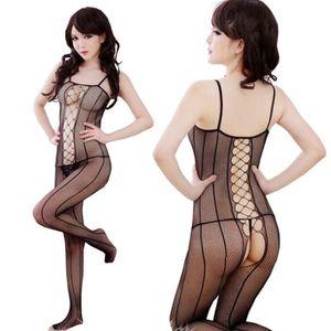 Brassière Bas siamois sexy lingerie filet pour femme
