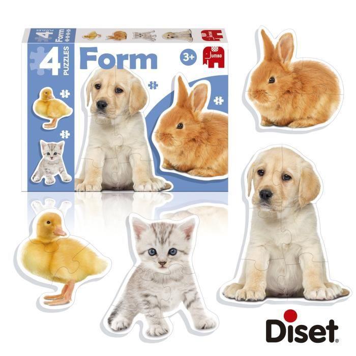 DISET 4 Puzzles Animaux Form Photo