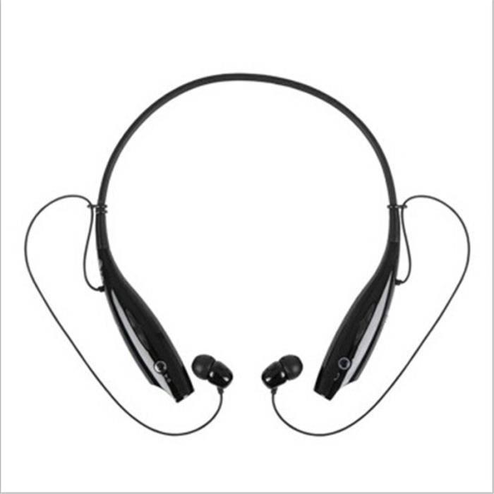Ecouteur Bluetooth Sans Fil Écouteurs Avec Mic Bass Noir