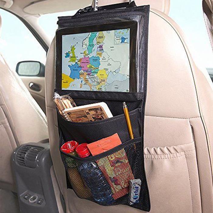 Kids Car Back Seat Ipad Hanging Bag Travel Storage Tablet Holder