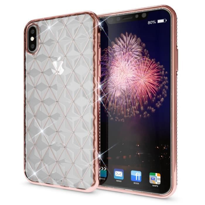 coque iphone x silicone strass