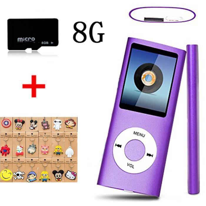 LECTEUR MP3 FULOZO® Lecteur MP3/MP4 8GB Micro SD Carte Lecteur