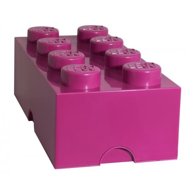 brique de rangement lego 8 plots - rose foncé - achat / vente
