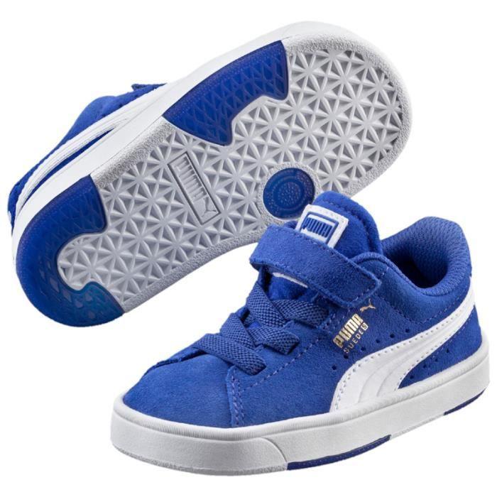 Puma SUEDE Basket mode Garçon Bleu