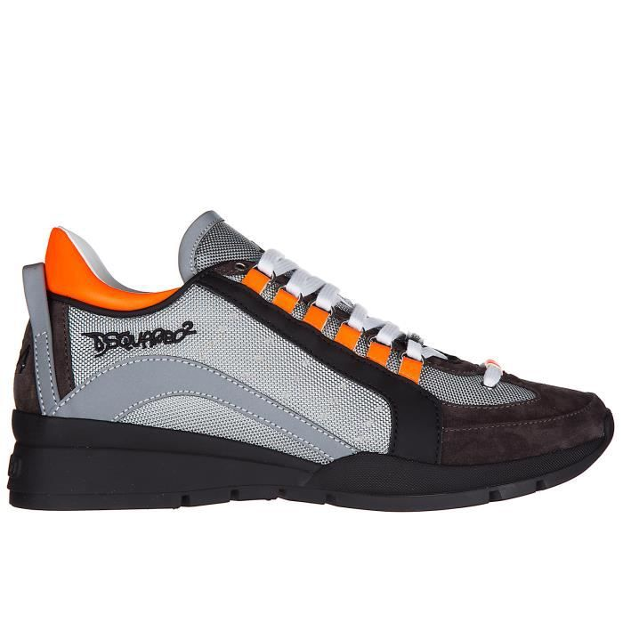 Chaussures baskets sneakers homme en cuir 551 Dsquared2 fGe8L3SI