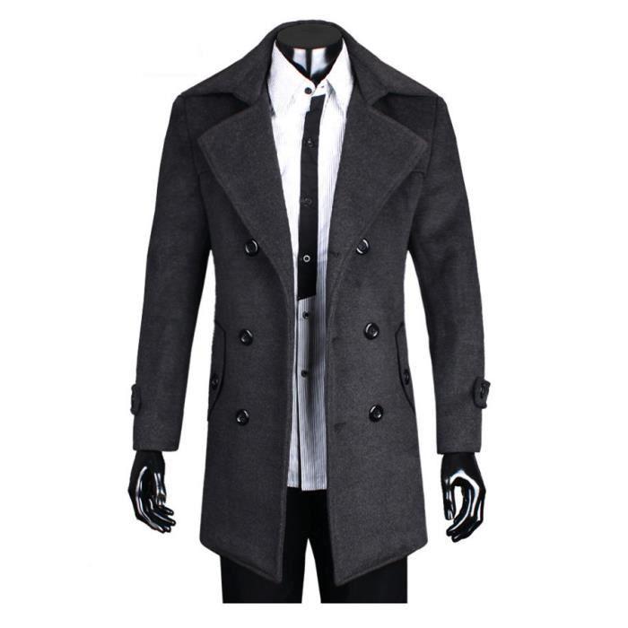 grande vente c1bfb 53334 Manteau homme en Velours classique slim double rangée de ...
