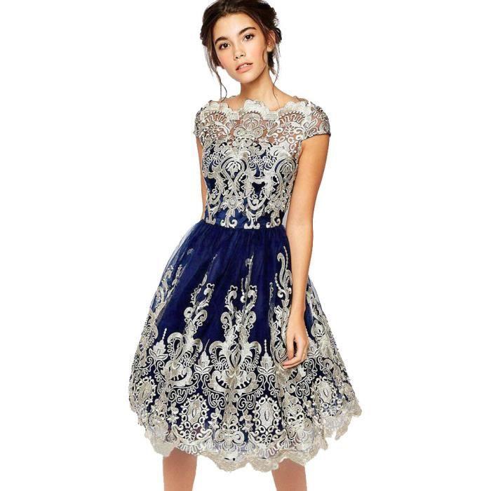 9e4381648b9 Bleu~wwc70829342bua Broderie Robe Cérémonie Robes Demoiselle Soirée Noces  De D honneur Exquisgift®dentelle ...