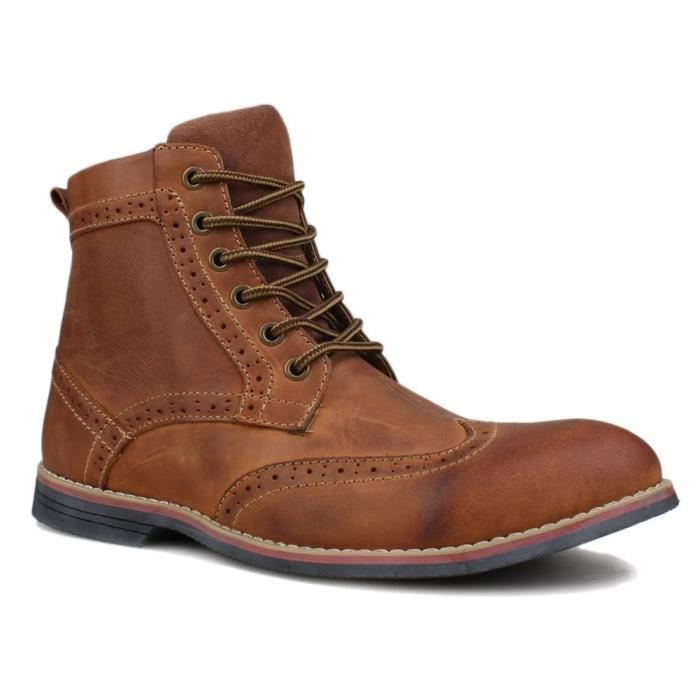 EQUGU Boot Cuir 43 Casual Taille 1702 lacent 1702 Premuim Cuir 0ZqpS7