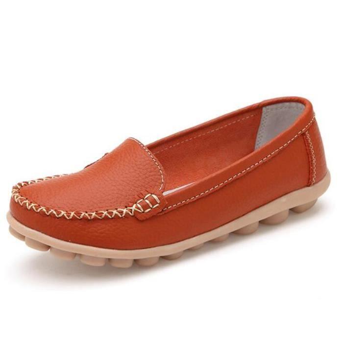 Mocassin Femmes ete Loafer Respirant Chaussures BTYS-XZ055Jaune36