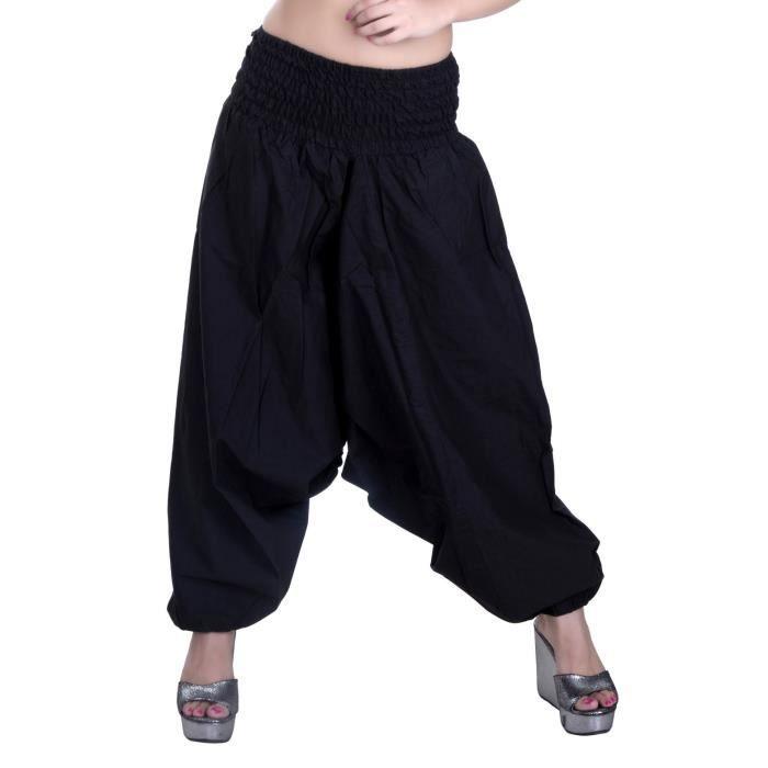 JUPE Les femmes de coton sarouel solide Yoga Danse Geni