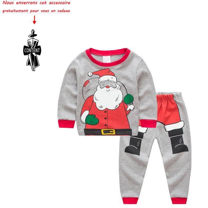 1aef65933bc48 Bébé Garçon et Filles Tops du Père Noël + Pantalons Tenues Maison Pyjamas Noël  Ensemble